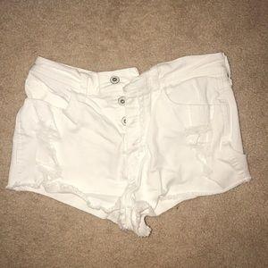 White summer shorts
